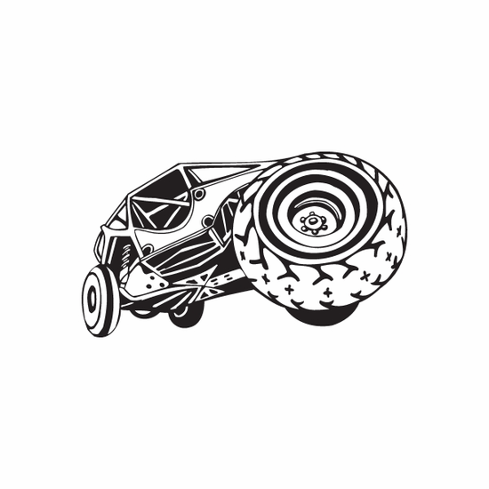 Dune Buggy Wall Decal - Vinyl Decal - Car Decal - DC 035