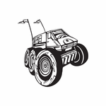 Dune Buggy Wall Decal - Vinyl Decal - Car Decal - DC 036