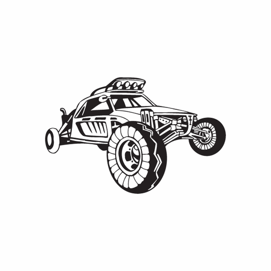Dune Buggy Wall Decal - Vinyl Decal - Car Decal - DC 037