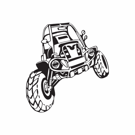 Dune Buggy Wall Decal - Vinyl Decal - Car Decal - DC 038