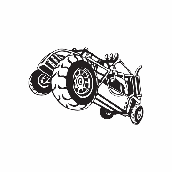 Dune Buggy Wall Decal - Vinyl Decal - Car Decal - DC 039