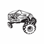 Dune Buggy Wall Decal - Vinyl Decal - Car Decal - DC 043