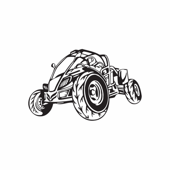 Dune Buggy Wall Decal - Vinyl Decal - Car Decal - DC 044