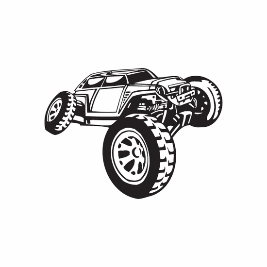 Dune Buggy Wall Decal - Vinyl Decal - Car Decal - DC 045
