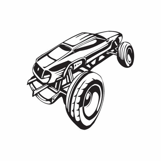 Dune Buggy Wall Decal - Vinyl Decal - Car Decal - DC 046