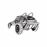 Dune Buggy Wall Decal - Vinyl Decal - Car Decal - DC 047