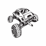 Dune Buggy Wall Decal - Vinyl Decal - Car Decal - DC 049
