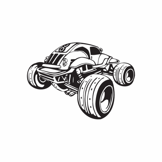 Dune Buggy Wall Decal - Vinyl Decal - Car Decal - DC 050