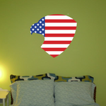Eagle Shaped America Flag Sticker