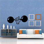 Fitness Wall Decal - Vinyl Decal - Car Decal - Bl089