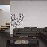Fitness Wall Decal - Vinyl Decal - Car Decal - Bl094