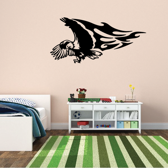 Flame Wing Eagle Decal