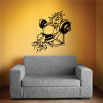 Fitness Wall Decal - Vinyl Decal - Car Decal - Bl096
