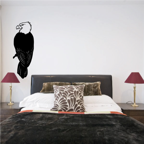 Eagle Perched Decal