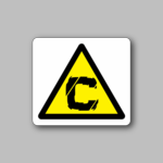Caution Sign Sticker