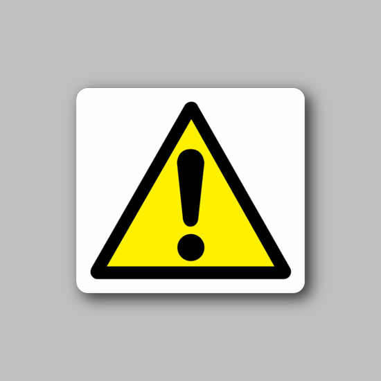 Caution Exclamation Sticker