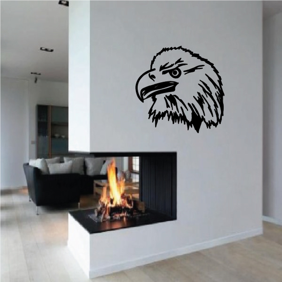 Mighty Eagle Head Decal