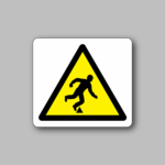 Caution Objects on the Floor Sticker