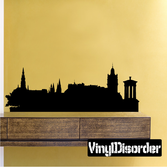 Edinburgh United Kingdom Skyline Wall Decal