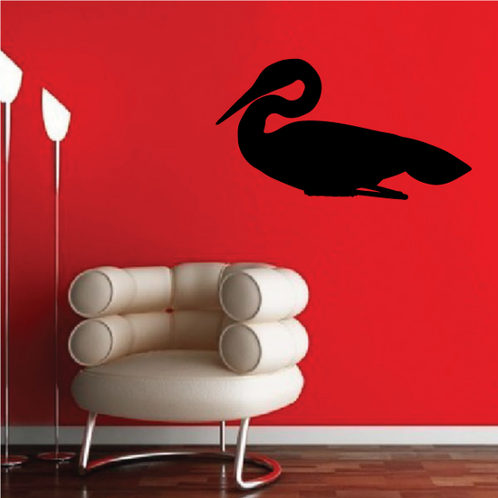 Egret Resting Decal