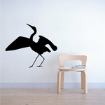 Egret Stretching Decal