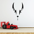 Abstract Bat Face Decal