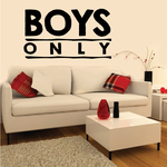Boys Only Wall Decal