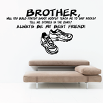 Brother Will You Build Forts With Me Wall Decal