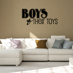 Boys and Their Toys Wall Decal