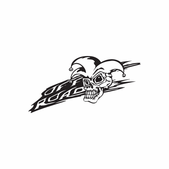 Off Road Jester Skull Decal