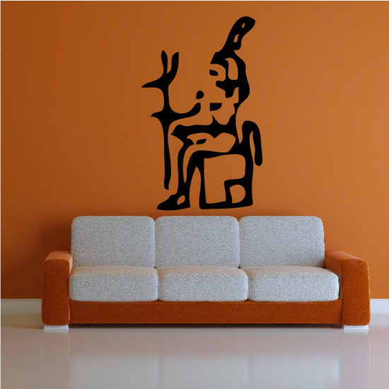 Egyptian Hieroglyphics Official King Decal