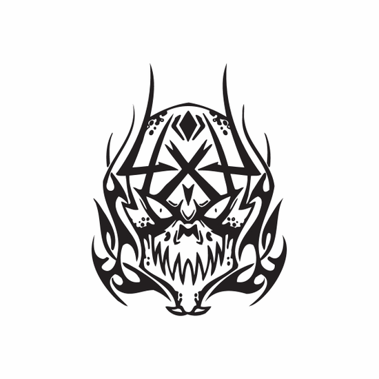 4 x 4 Off Road Skull Decal
