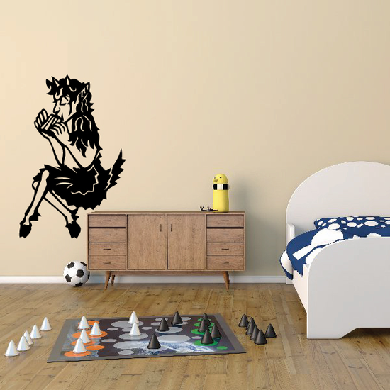 Satyr with Flute Decal