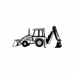 Front End Loader with Back Hoe Decal
