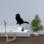 Fluffy Cat Looking Up Decal