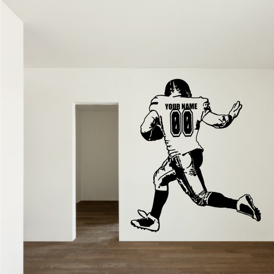 Custom Football Runningback Decal