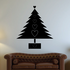 Christmas Tree with Hearts Decal