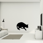 Curled Tail Cat Decal