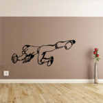 Football Player Diving Catch Decal
