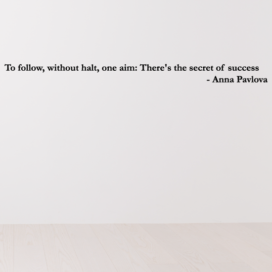 To follow without halt one aim There is the secret of success Wall Decal