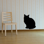 Cat Hunched Sitting Decal