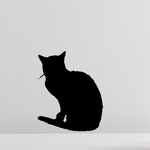 Peaceful Cat Curled Tail Decal