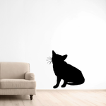 Cheerful Kitten Sitting Decal