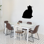 Fluffy Cat Posed Looking Decal