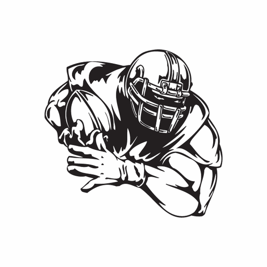 Football Wall Decal - Vinyl Decal - Car Decal - DC 100