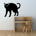 Scared Hissy Cat Decal