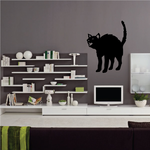 Halloween Hissing Cat Decal