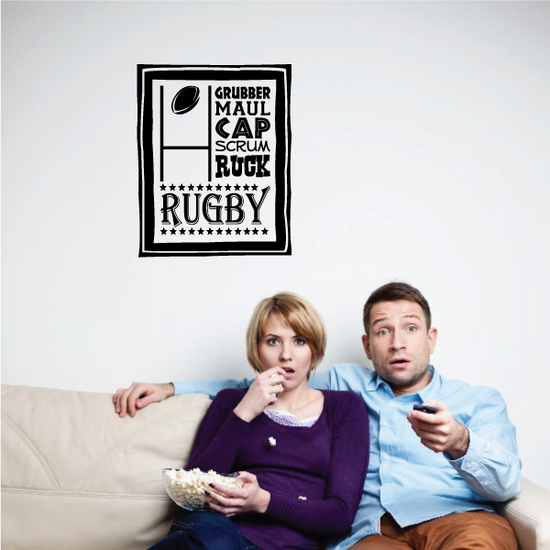 Rugby Wall Collage Decal