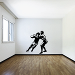 Detailed Rugby Players Decal