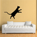 Oriental Cat Leaping Decal